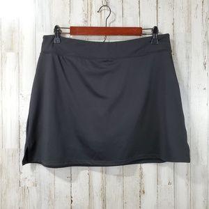 Green Tea Womens Athletic Skirt Skort L Gray
